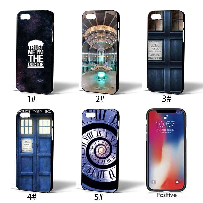Tardis Box Doctor Who iPhone 5 6 6S 7 8 Plus XS Max XR Case Soft Cover