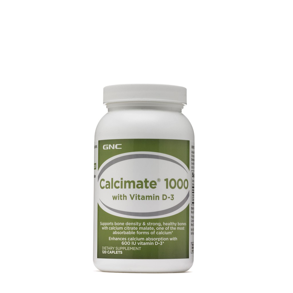 GNC Calcimate 1000 with D3 (120 Caplets) | Shopee Philippines