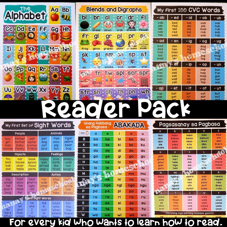 READER Pack Laminated Educational Charts - Alphabet ...