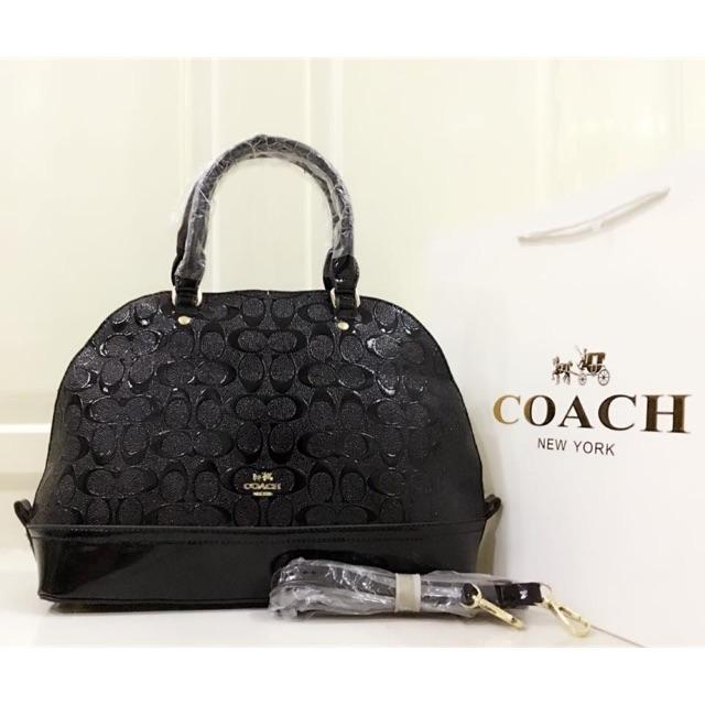 c009346e15 Replica Coach Patent Leather Taco Bag
