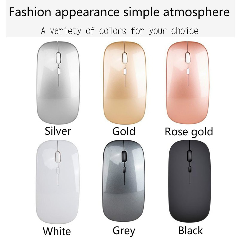 Laptop Office Mouse Hengtongtongxun Mouse Color : White Charging Wireless Mouse Mute Mouse