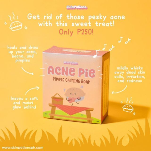 Skinpotions Acne Pie Soap Trial Full Size Shopee Philippines
