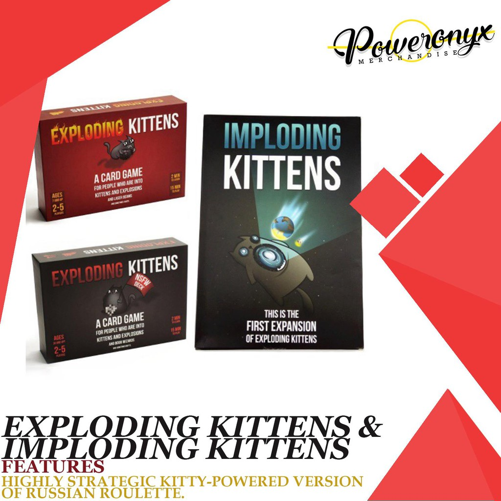 Exploding/Imploding Kitten Card Game