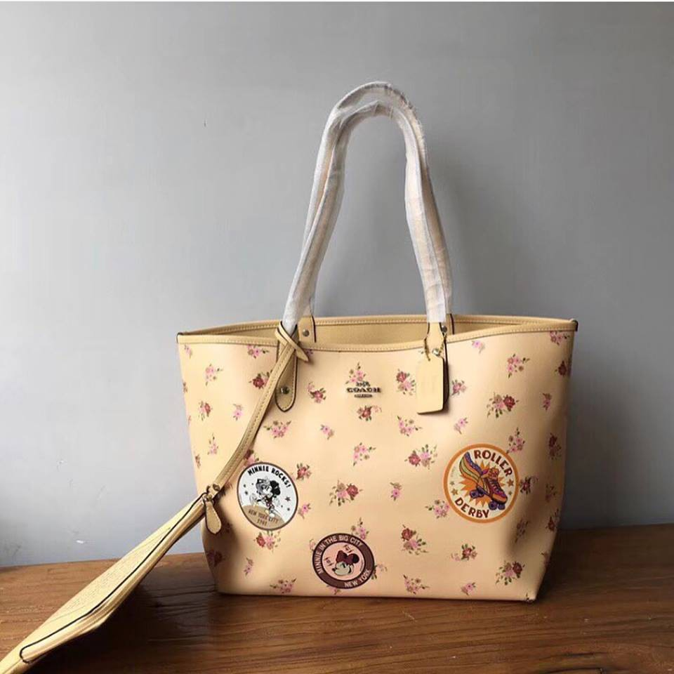 Authentic Coach Zip Tote in Signature F36876 - Khaki Pink  df0441aab50a3