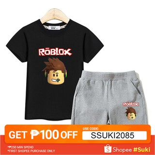 d15763131af1d Kids fashion suit Roblox clothing Boys T-shirt+pants sets boy ...