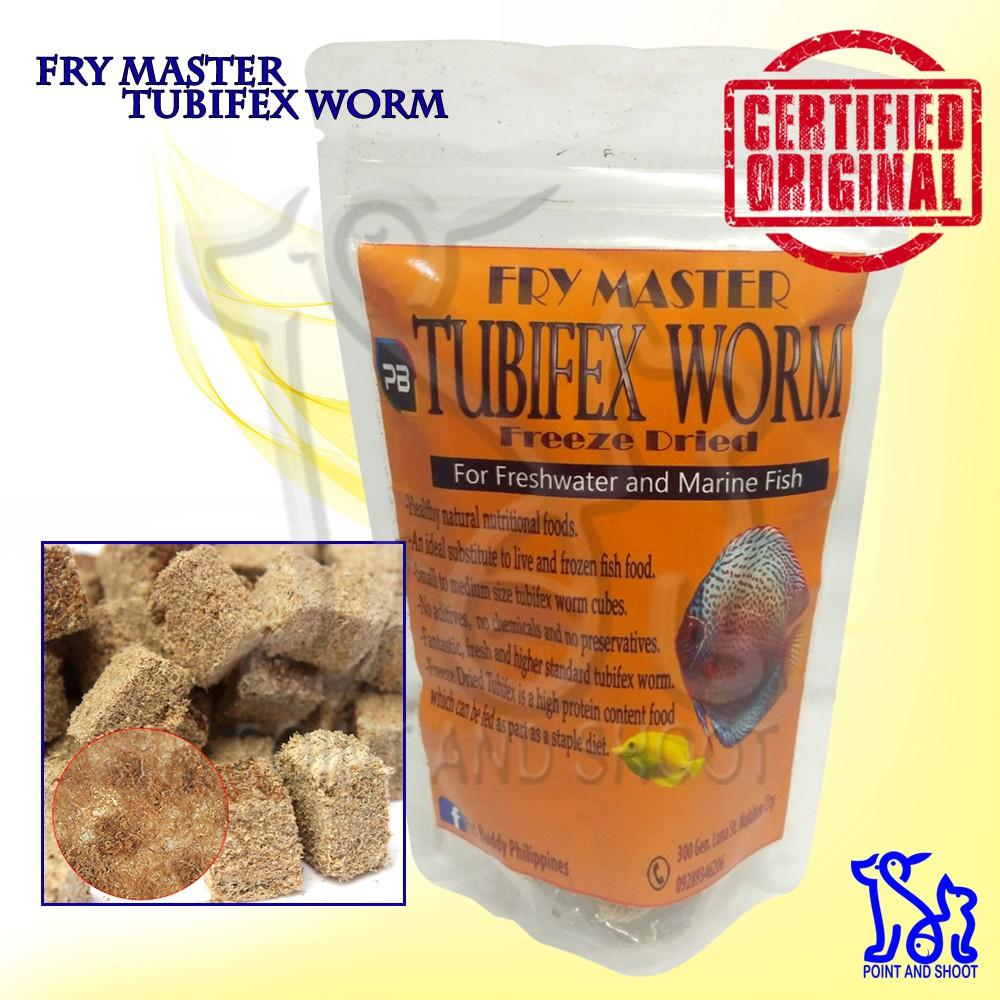 PB Fry Master Tubifex Worm Freeze Dried