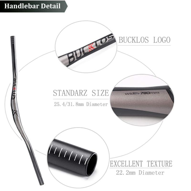 BUCKLOS 25.4//31.8mm Handlebar Mountain//Road Bike Flat//Riser Bar Aluminum Alloy