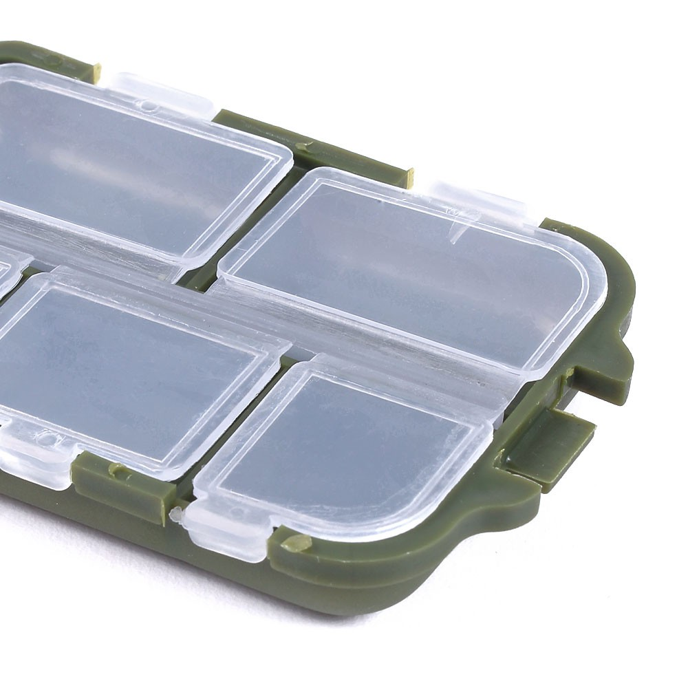 4//6//8 Slots Fishing Tackle Box Small Fishing Tools Container Organizer Case