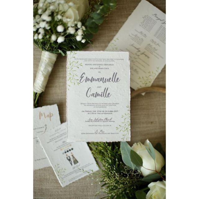 Wedding Invitation Seed Paper Shopee Philippines