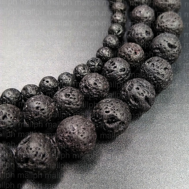 Wholesale Multicolor Lava Volcanic Stone Round Loose Beads For Jewelry Making Diy Bracelet Necklace Jewellery 4 6 8 10 12mm 15 Price Remains Stable Beads & Jewelry Making