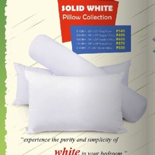 Dakki Solid White Pillow | Shopee Philippines