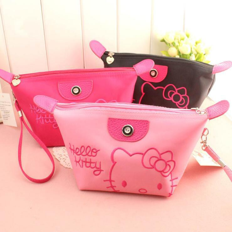 c75b1b019 Hello Kitty Cosmetic Pouch Travel Makeup Ladies Sling Bags | Shopee ...