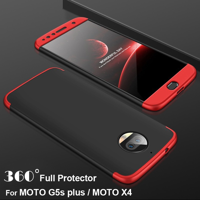 the best attitude f7bb7 7a9ba MOTO G5s plus Case 360 Degree Matte Cover For MOTO X4