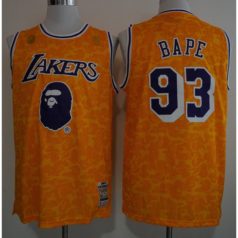 62d24dc67 ☆Big promotion☆ NBA Basketball Jersey Bape x Bull Vintage Jersey Green  NO.93 Size: S- XXL stock | Shopee Philippines