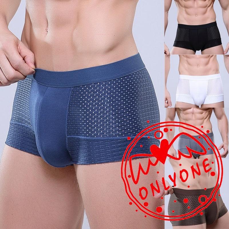 Men Boxer Brief Bulge Pouch Shorts Male Trunk Underwear Fashion Underpants L-3XL
