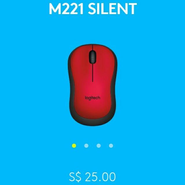 30% OFF Logitech M221 SILENT Wireless Mouse w FREE BATTERY