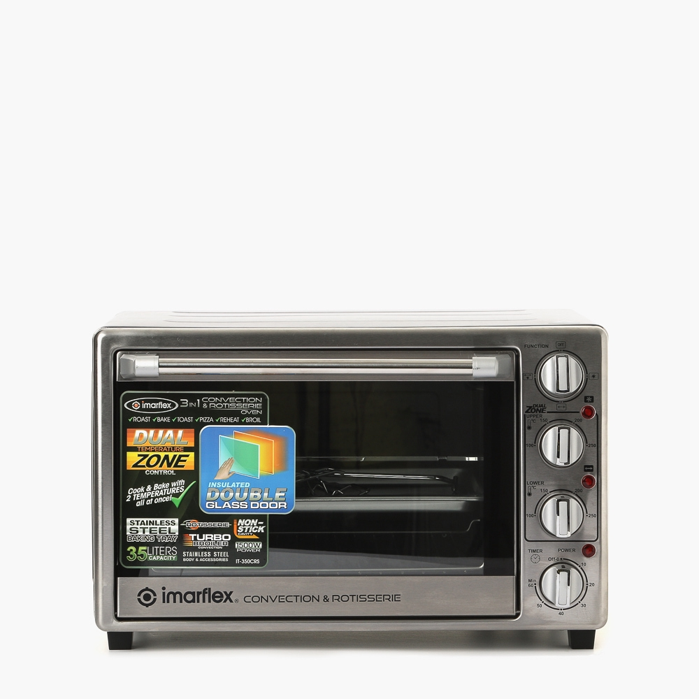 Imarflex Microwave Oven: Imarflex IT-350CRS 35L 3-in-1 Convection And Rotisserie