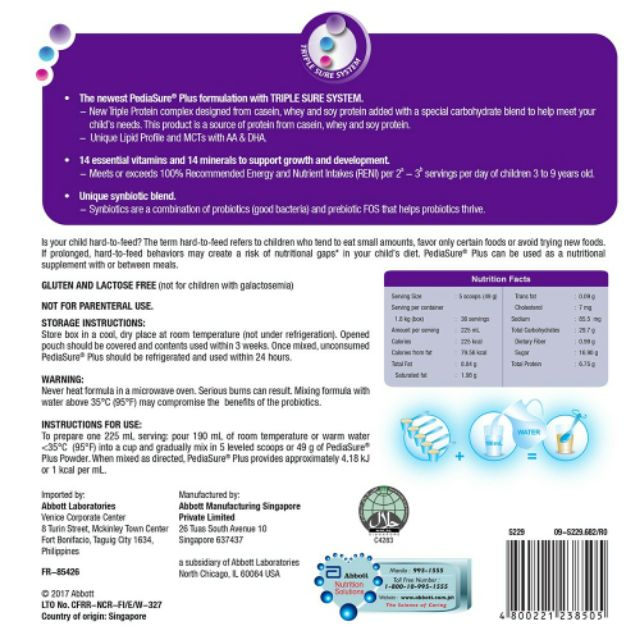 Pediasure trial pack | Shopee Philippines