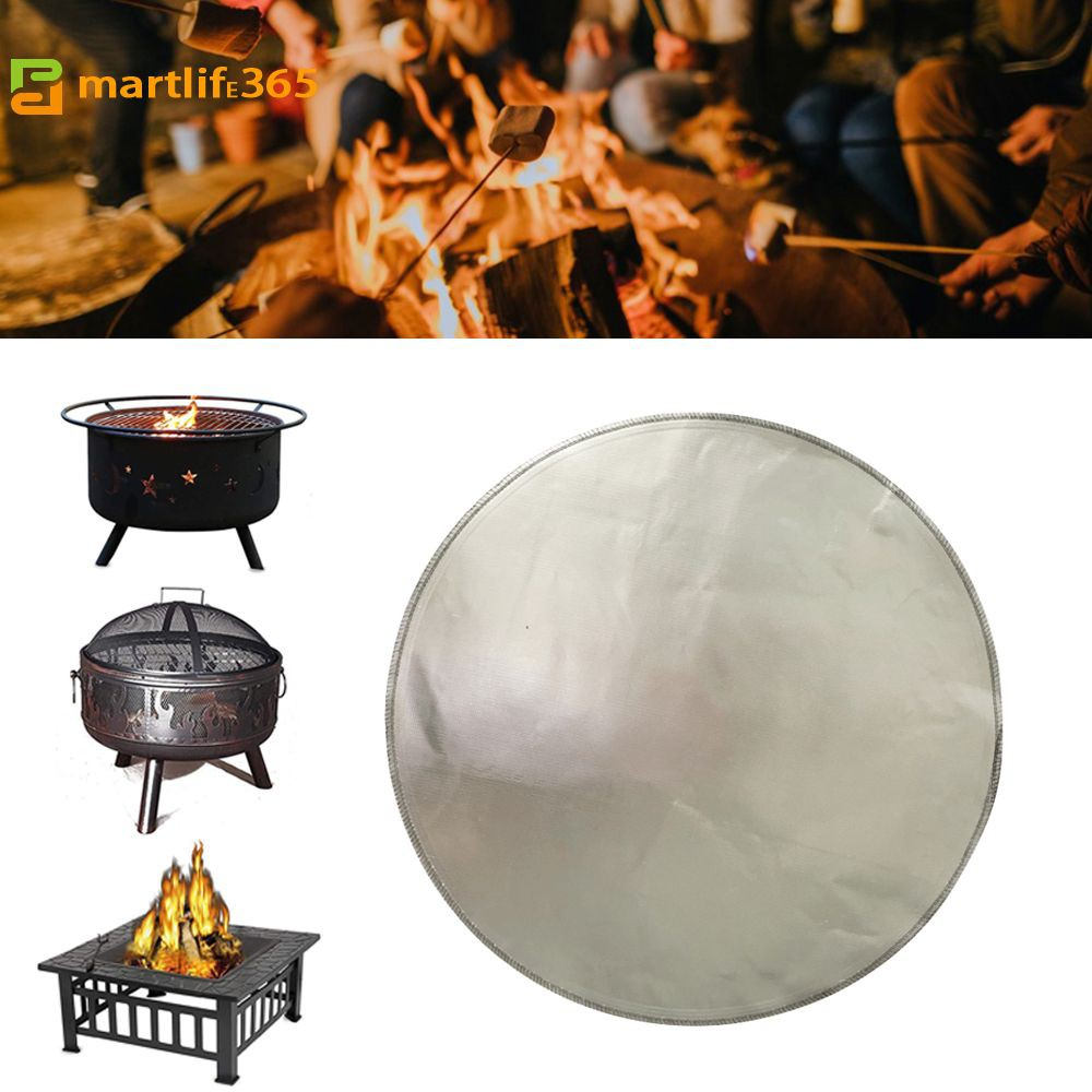 Cheap Price Round Fireproof Mat 24in Fire Pit Mat Grill Mat Deck Protector To Protect Deck Patio Lawn Campsite From Fire Burn Smartlife365 Shopee Philippines