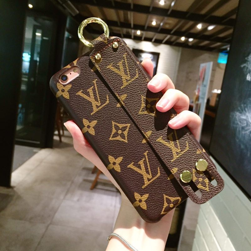 scarpe di separazione 37511 0b007 Louis Vuitton LV Wrist Strap IPhone 5s 6s 7 8 plus X Case XR