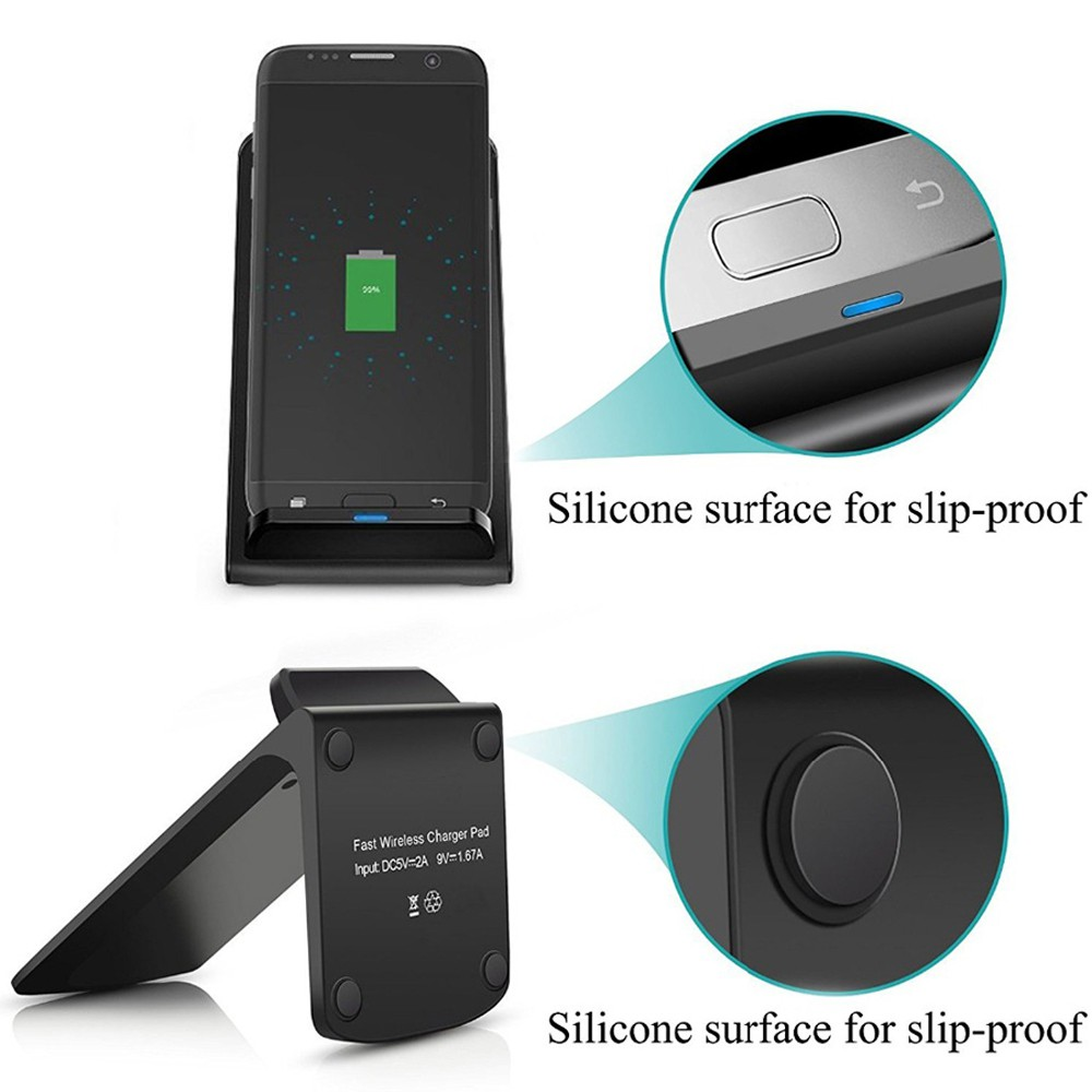 wholesale dealer 11dd3 518b4 QI Wireless Charger Quick Charge 2.0 Fast Charging for iPhone 8 / iPhone X