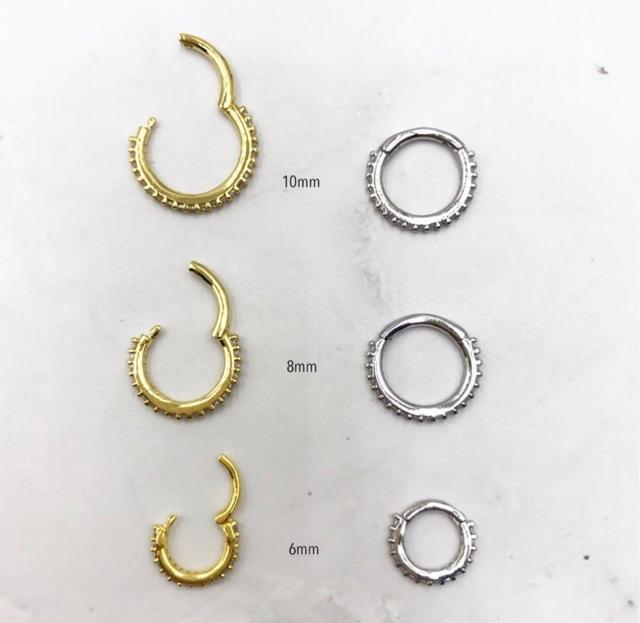Bubble Body Piercing Surgical Steel Open Heart Seamless Ring Gauge 16g