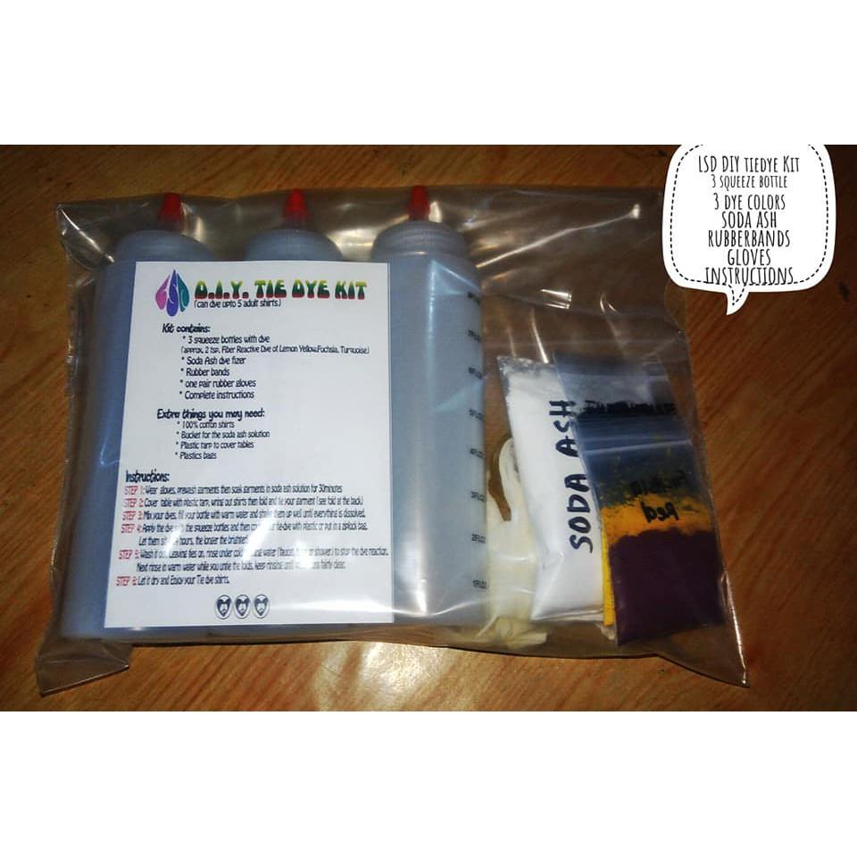 4071a97bf3b2 Da 5pcs Tulip Tie Dye Kit Vibrant Fabric Textile Permanent