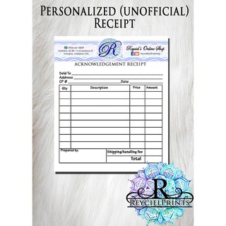 personalized notepad receipt shopee philippines