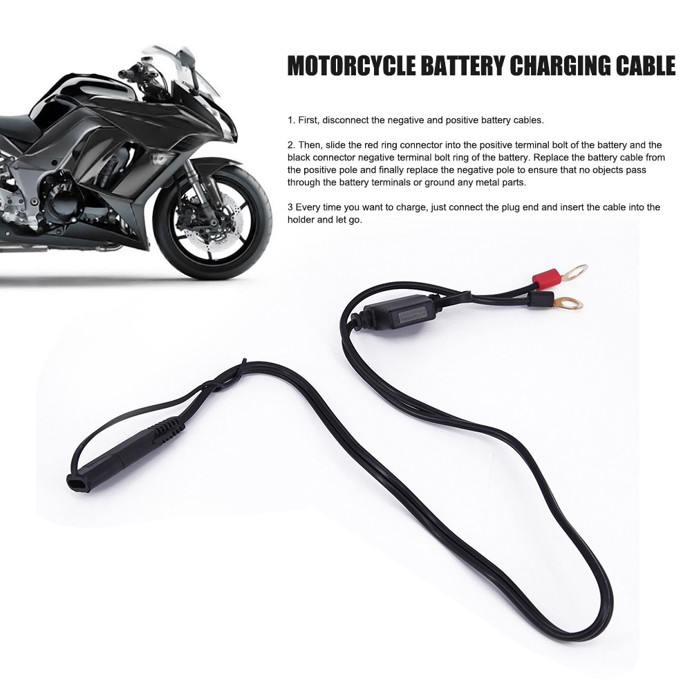 Harness Cable Wire Motorcycle Snowmobiles Battery Charger 12V Connect Terminal