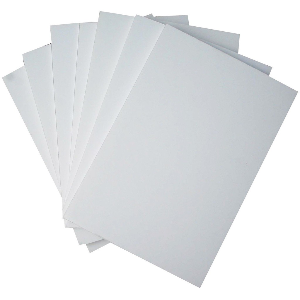 "10pcs White / Black Foam Board 8"" x 12"""