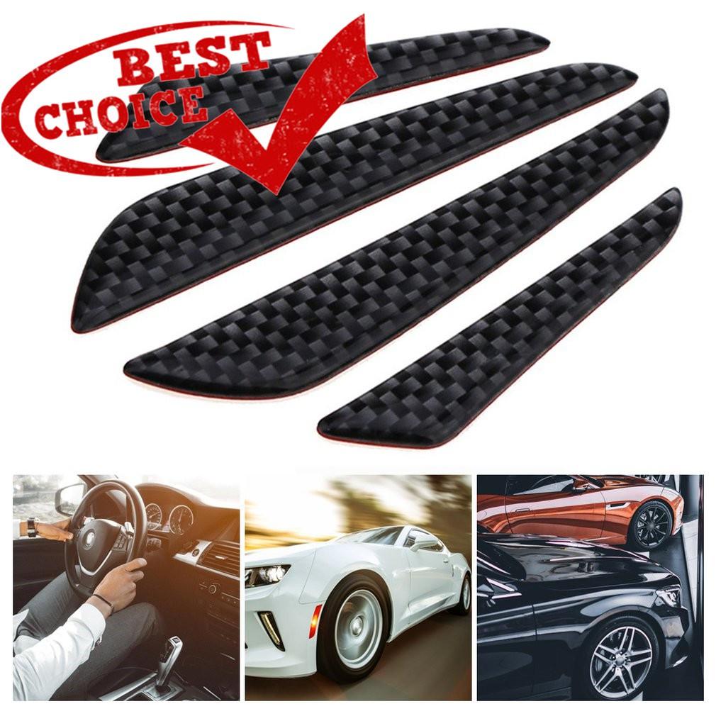 4Pcs//Set Car Door Edge Anti-Scratch Guard Protector Molding Decors Bumper Strips