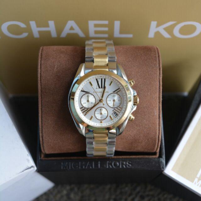 0cae56625f72 Michael Kors Medium Bradshaw Two-Tone Gold Watch (MK5974)