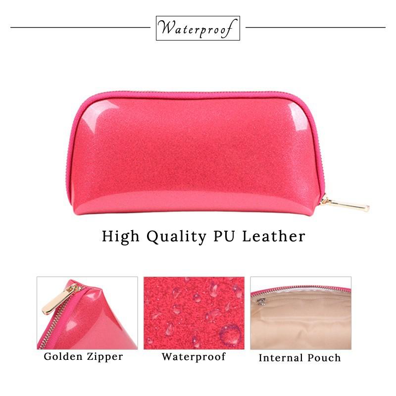 6eb1e81c565d High Quality Woman PU Cosmetic Bag Fashion Portable