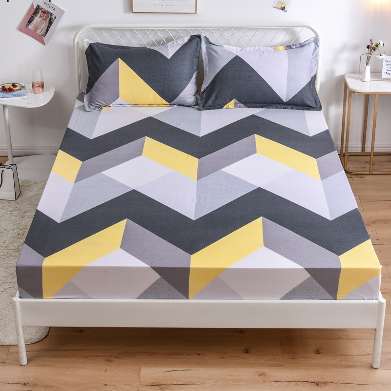 Spot Fitted Sheet Bedsheet Polyester, King Fitted Sheet On Queen Bed