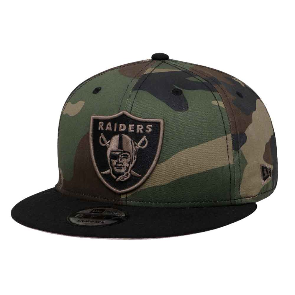 ac9f995a New Era Oakland Raiders NFL Woodland Camo 9FIFTY Cap