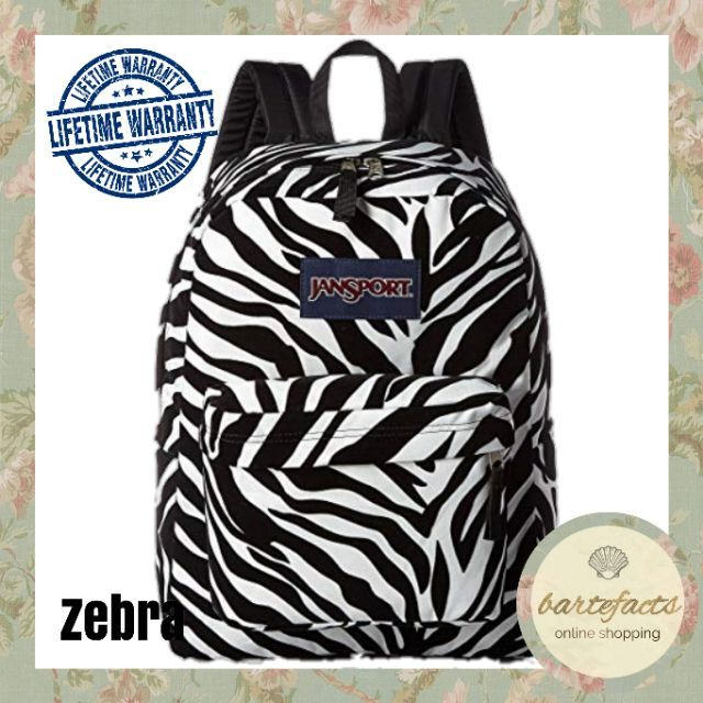 Authentic Jansport Backpack with lifetime warranty (zebra)