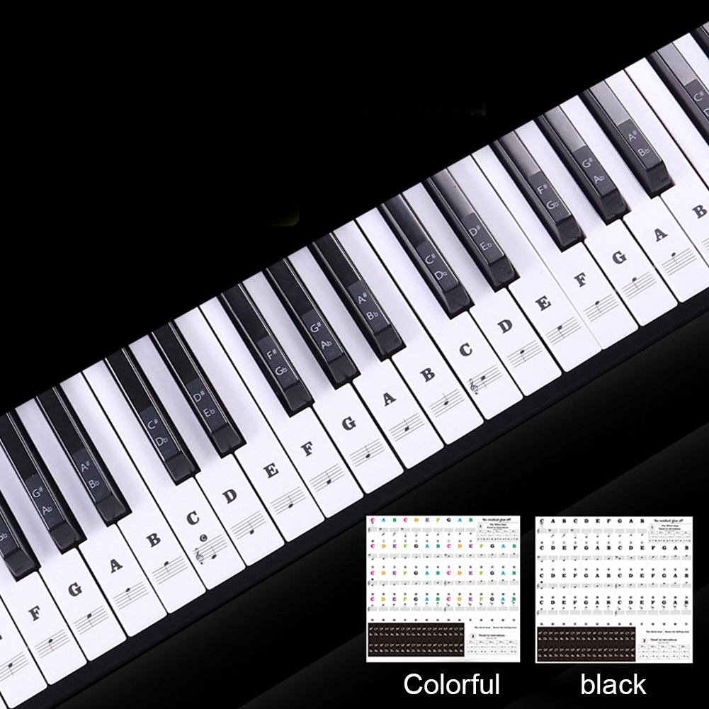 Sticker Label PVC Stave Piano Keyboard Biginners 54/61 Keys