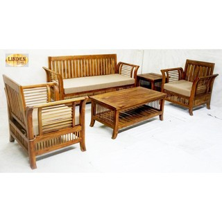 Handcrafted Solid Teak Wood 092 Sofa Sets Furniture