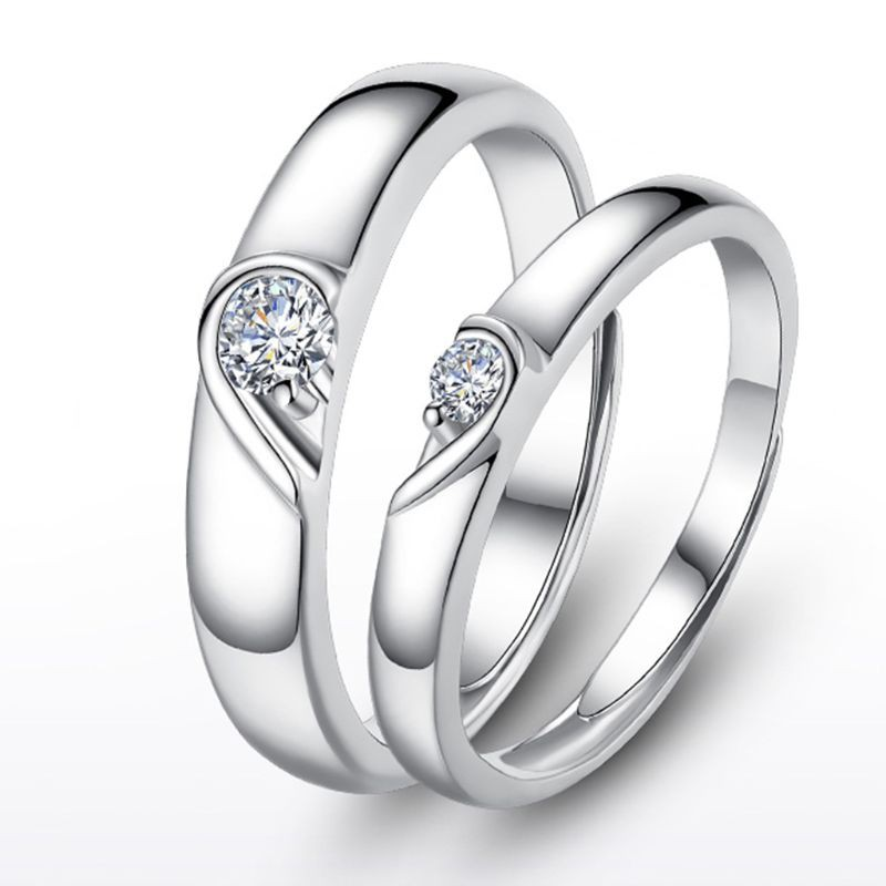 Yoi Heart Promise Rings For Couples I Love You Engagement Wedding Ring Band Sets Shopee Philippines