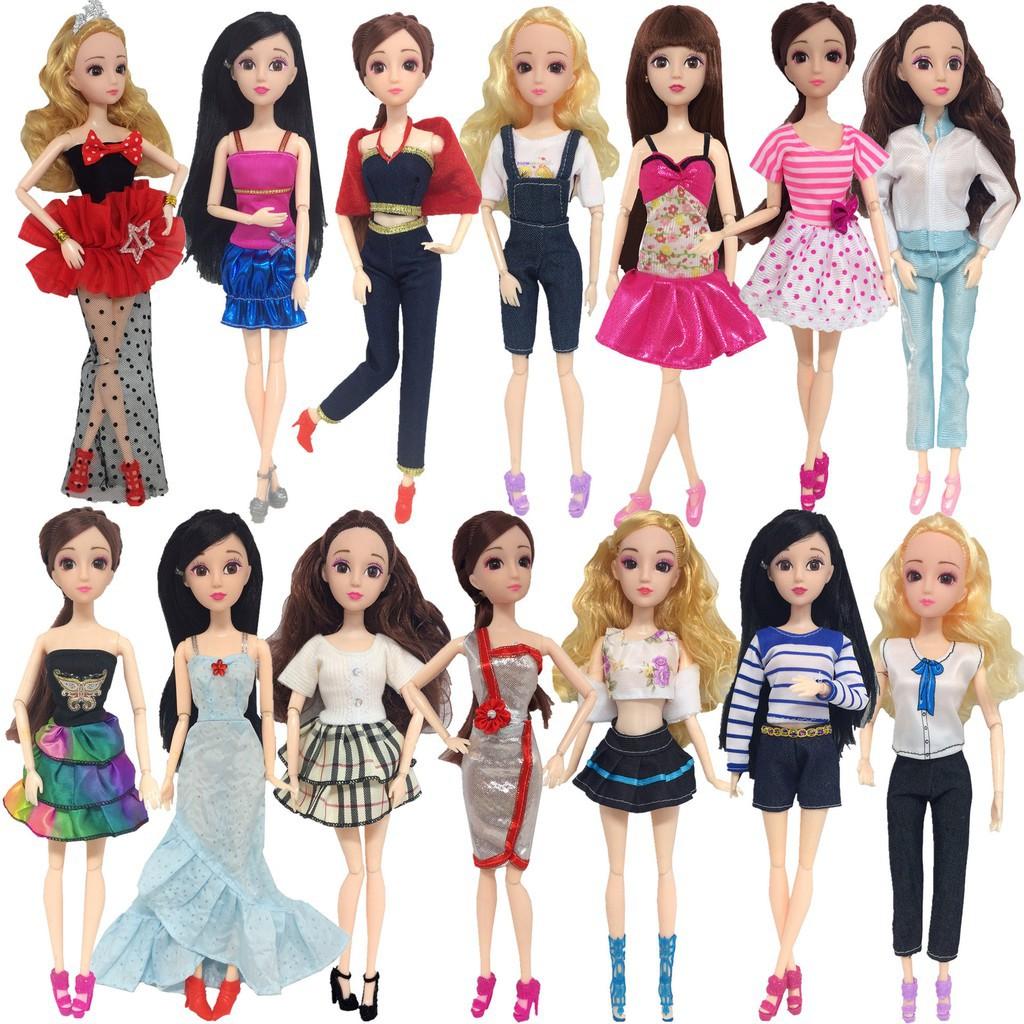 cdf9c83112 14Pcs Fashion Handmade Barbie Doll Party Dress Clothes Mixed