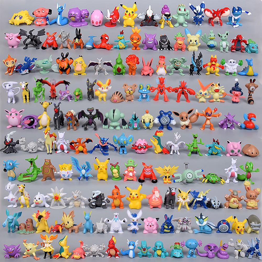 6pcs Pokemon Mini Model Toys Pokémon Classic Character Action Figures Kids Gift