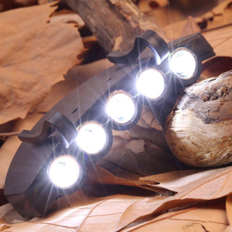 8fdeb744cac3aa c-5 LED Cap Hat Brim Clip Lamp Head Light Headlight Headlamp Camping Hiking  Hat