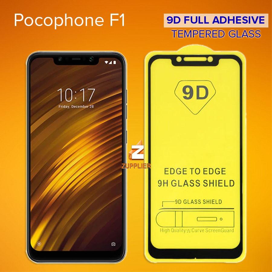 Xiaomi Poco Pocophone F1 9D Full Adhesive 9H Tempered Glass