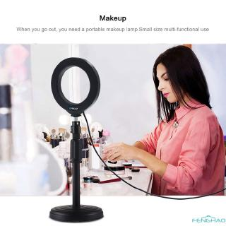 Hangang LED Ring Light 26cm Fill Light Desktop Model Dimmable Desktop Color Illumination 3 Lighting Modes and 10 Brightness Levels are Suitable for Taking Pictures and Recording Videos