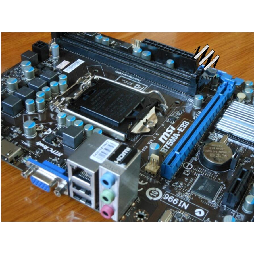 Motherboard  for MSI B75MA-E33 LGA1155 Intel B75  SATA3 DDR3  Micro ATX