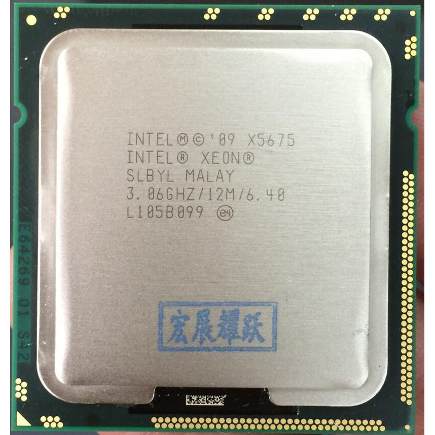 Intel Xeon Processor X5675 (12M Cache 6 40 GT/s Intel QPI) LGA 1366 Server  CPU