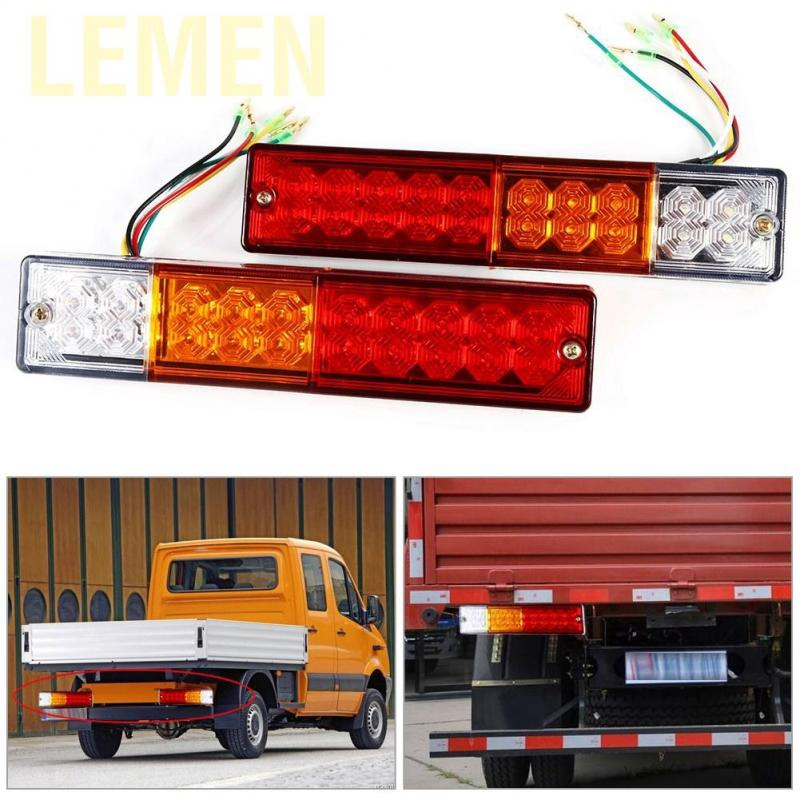 2x 10-30V LED Trailer Truck Caravan Rear Tail Brake Reverse Light Turn Indiactor