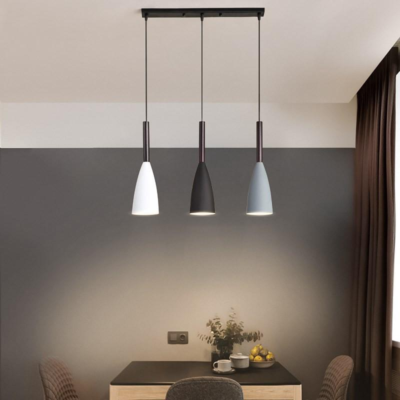 Modern 3 Pendant Lighting Nordic Minimalist Pendant Lights Over Dining Table Kitchen Island Hanging Lamps Dining Room Lights E27 Shopee Philippines