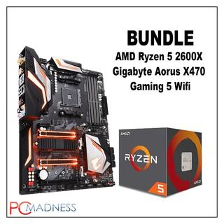AMD Ryzen 5 2600X Bundle w/ Gigabyte Aorus X470 Gaming5 Wifi