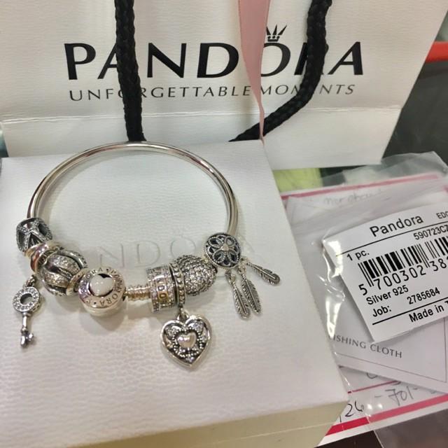 Pandora You Are So Loved Bangle Set Shopee Philippines